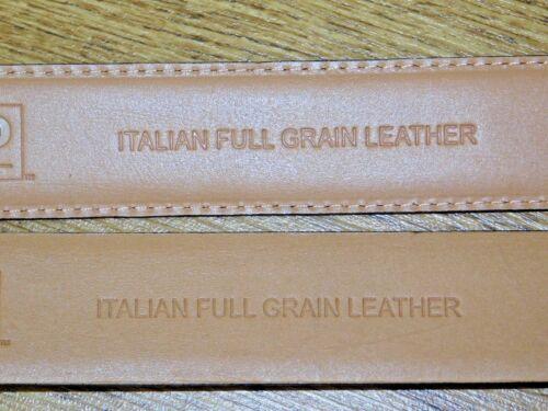 kirkland signature mens full-grain Italian leather belt black or brown 3 sizes