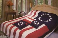 Comforter Bedspread Betsy Ross Flag 101x86 King With 2 Pillow Shams