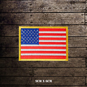 USA-National-Flag-Embroidered-Iron-On-Sew-On-Patch-Badge-For-Clothes-etc