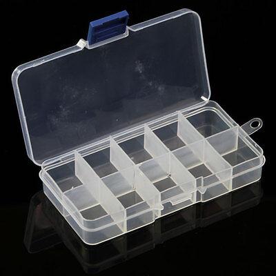 10/15/24 Compartments Plastic Box Jewelry Bead Storage Container Craft Organizer