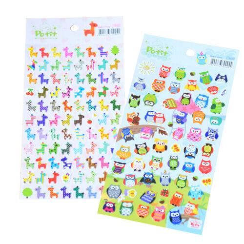 Cute Lovely 3D Bubble Stickers Kawaii Cartoon Animal Sticker Kids Toy Gift ES