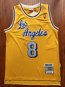 Image is loading NBA-Los-Angeles-Lakers-Kobe-Bryant-Yellow-Throwback- ·  MIAMI HEAT RED BASKETBALL JERSEY ... a090ff70e