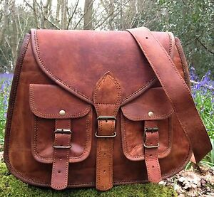 NEW-REAL-LEATHER-SATCHEL-SADDLE-BAG-BOHO-CHIC-VINTAGE-HAND-BAG-MESSENGER-LADIES