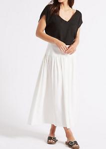 09b41376cc6 M S COLLECTION Drop Waist Maxi Skirt ~ Winter White~ PRP £39.50