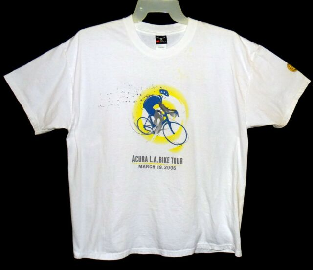 Sz XL Los Angeles Marathon Acura Bike Tour 2006 White 100