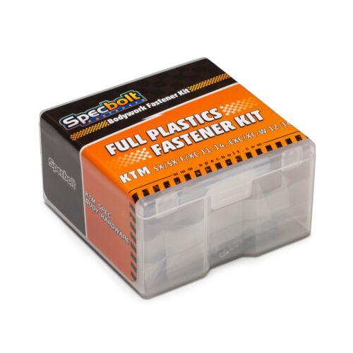 Specbolt Full Plastics fastener bolt kit for KTM SX SXF EXC XC XC-W 2011-2016