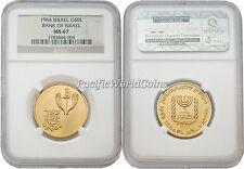 Israel 1964 Bank of Israel 50 Lirot Gold NGC MS-67