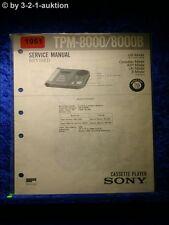 Sony Service Manual TPM 8000 / 8000B (#1951)