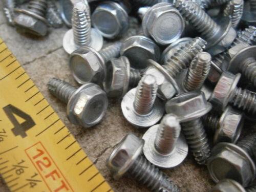 Thread Cutting Screw #6//32 x 3//8 Indented Hex Head F Steel Zinc Lot of 100 #5982