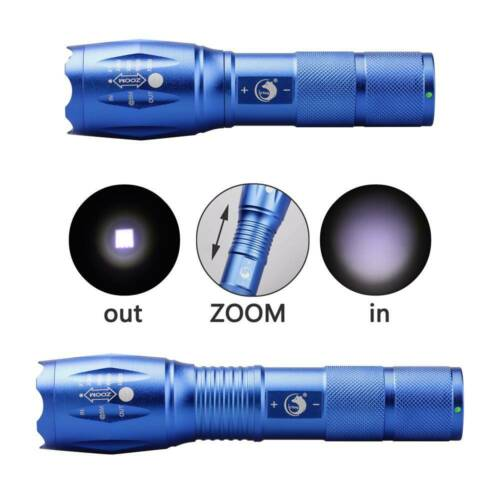 1000LM Zoombare Taschenlampe T6 LED Taktische+18650+Ladegerät Box Hiking Travel