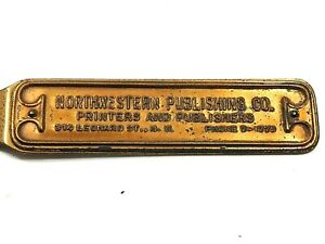 BRASS-NORTHWESTERN-PUBLISHING-CO-Letter-Opener-9-034-1920-30-039-s