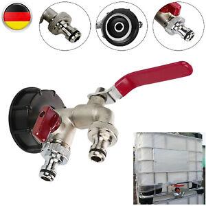 """IBC Adapter Regenwasser  Kugelauslaufhahn 1//2/"""" Zubehör Für 1000L Wassertank"""