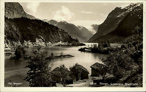 Loenvann-Norwegen-Norge-Sogn-og-Fjordane-1930-Gebirge-See-Nordfjord-Fjord-Berge