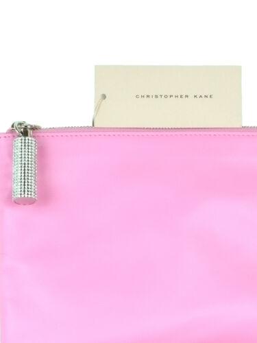 clutch Nieuwe lederen verfraaid roze Swarovski kristallen Kane Christopher CrdtsQh