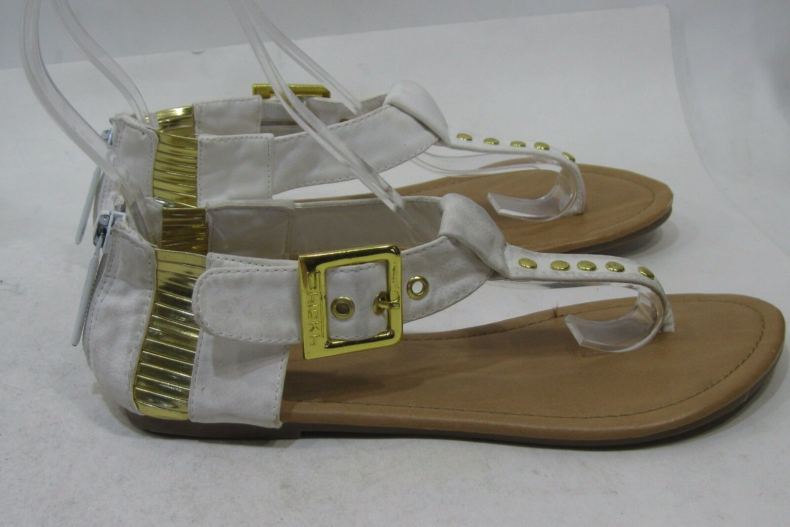 Summer White Gold Stud Womens Fashion 5.5 Gladiator Sexy Sandals Size 5.5 Fashion 41561b