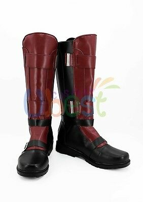 Gambit Cosplay Botas Comic X men Cosplay Zapatos Hombres