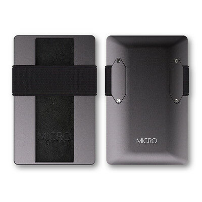 KKMC - Mens NEW Slim Aluminium MICRO Wallet TRAVEL Card Holder RFID Money Clip