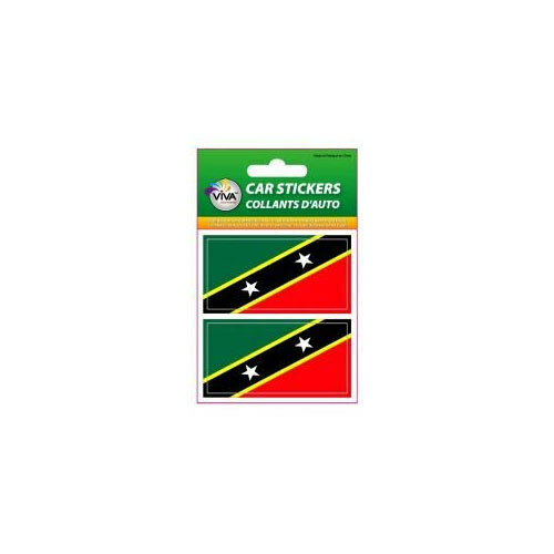 SET OF 2 COUNTRY FLAG VINYL CAR STICKERS..1 3//8 X 2 3//4 INCH KITTS /& NEVIS ST