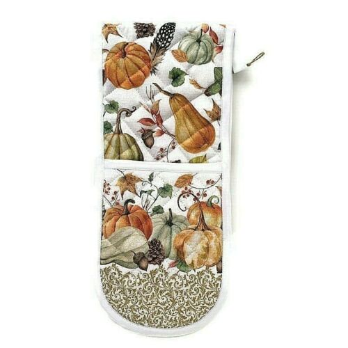 Holiday Michel Design Works Sweet Pumpkin Double Oven Glove Thanksgiving