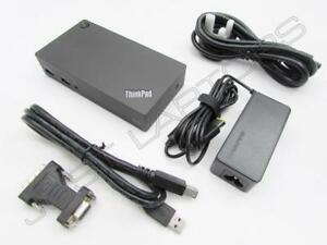 Neuf-Lenovo-Ideapad-Y700-Y910-USB-3-0-Dock-Station-Port-Replicateur-Encre-PSU