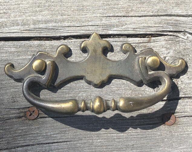 Vintage Amerock Hammered Brass D219425 Drawer Pulls Handles 176A