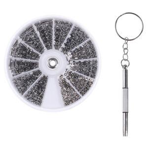 600Pcs-Tiny-Screws-Nut-Screwdriver-Watch-Eyeglass-Glasses-Repair-Tool-Set-LA