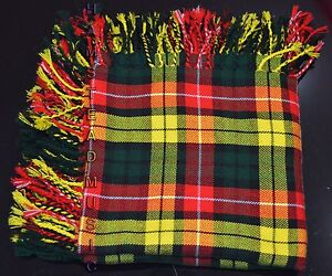 "Scottish Modern Buchanan Tartan 48"" X 48"" Purled & Fringed Kilt's New Flyplaids"