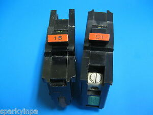 "15A FEDERAL PACIFIC Stab Lok 15 Amp StabLok 1//2/"" Thin Stab-Lok BREAKER PERFECT"