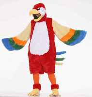 Deluxe Plush Parrot Mascot Adult Halloween Costume Standard Size Always Fun