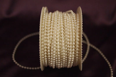 10m of 2.5mm bead pearl string (Ivory/White/Colourless)