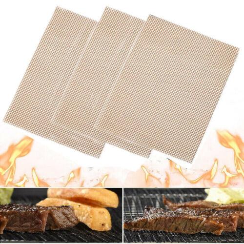 2PCS Grill Mat BBQ Mesh Teflon Non Stick Cooking Fish Meat Grilling Sheet Liner