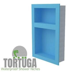 Image Is Loading TORTUGA Double Shower Niche Waterproof Ready For Tile