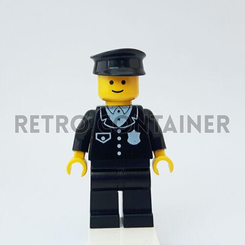 1x cop015 Policeman LEGO Minifigures Omino Minifig Vintage Cop 6396 6390