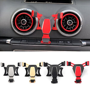 For-Audi-A3-S3-Car-Air-Vent-Outlet-Mount-Cell-Phone-Holder-Bracket-360-Rotary