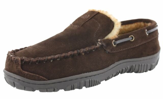 8207a5593fa Men's Clarks Augusta 1001 Slippers Brown Suede 11 for sale online | eBay