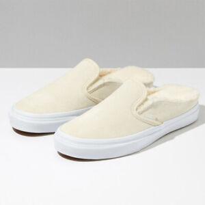 Details zu Vans Fleece Classic Slip on Mule shoes Cream white sneakers VN0A4P3UTC71