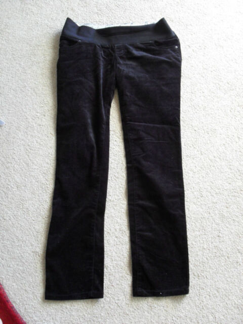 995119d9981f9a MAMAS & PAPAS maternity velour trousers 12L black jeans L32   eBay