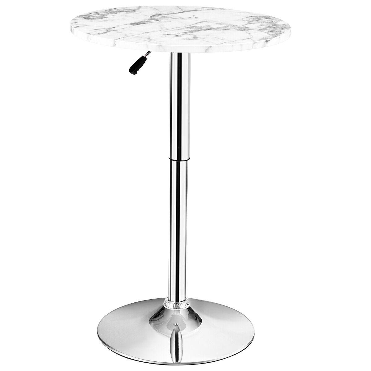 Modern Round Bar Table Swivel Adjustable Counter Top Pub Bistro Kitchen Home For Sale Online Ebay