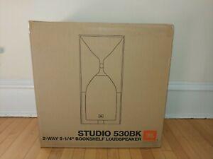 NEW-JBL-Studio-530-5-1-4-034-Bookshelf-Loudspeakers-in-Black-Superb-Sound-1-pair