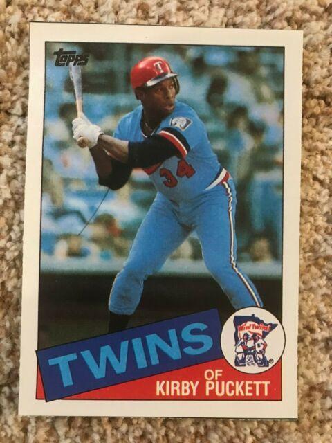 Kirby Puckett 1997 Minnesota Twins Topps Tribute Poster HAND CUT 1985 Topps RC