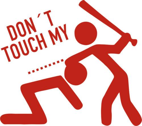 Aufkleber Sticker Decal Folie Schriftzug Logo Don´t touch my Scooter Vinyl