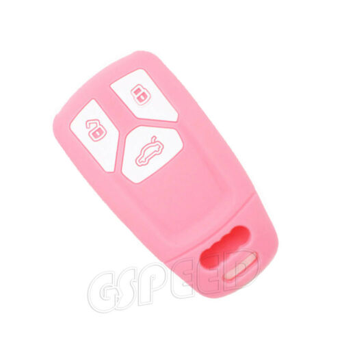 Silicone Remote Key Cover Shell Holder Fit For 2016 2017 AUDI A4 Q7 TT TTS
