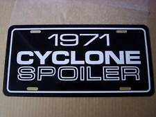 1971 Mercury Cyclone Spoiler License Plate Tag 71 429 Super Cobra Jet