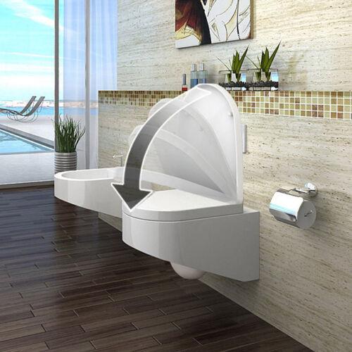 Wand Hänge WC Toilette Nano-Beschichtung// Softclose Sitz abnehmbar 2045-N