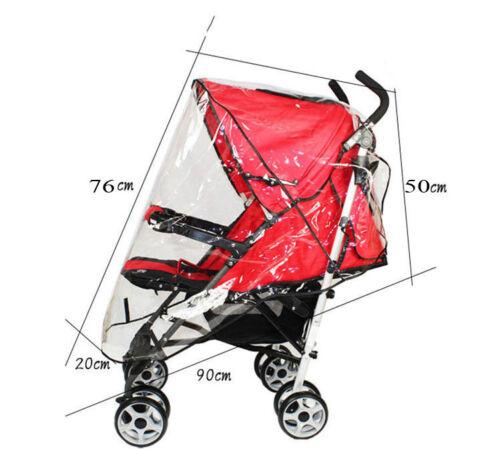 Pushchair Pram Stroller Travel Bag Rain Cover Umbrella Mosquito Insect Net Mesh