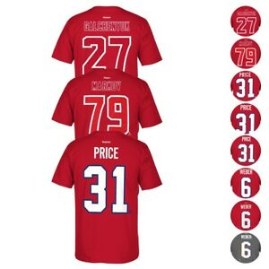 397c2f3850b Montreal Canadiens NHL Reebok Player Name   Number Premier Jersey T ...