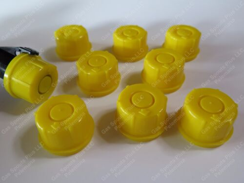 9-Pack BLITZ Rotopax Kolpin YELLOW CAPS fits self-venting gas can spout SEE PICS