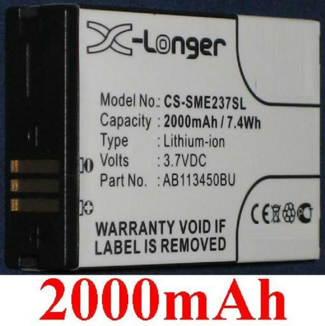 Batería 2000mAh Tipo AB113450BU AB113450BUCSTD para Samsung GT-E2370