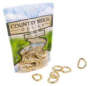 25 Country Brook Design® 3//4 Inch D-Ring with Clip
