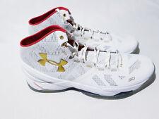 Under Armour UA Curry 2 Basketball Shoes Blue White Red USA SZ 1259007-401